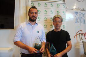 da sinistra: Dario Bonazelli, distribuzione I Wonder ritira il premio per Spira Mirabilis; Fabrice Ouakinini, Premier Comms ufficio stampa ritira il premio per Voyage of Time